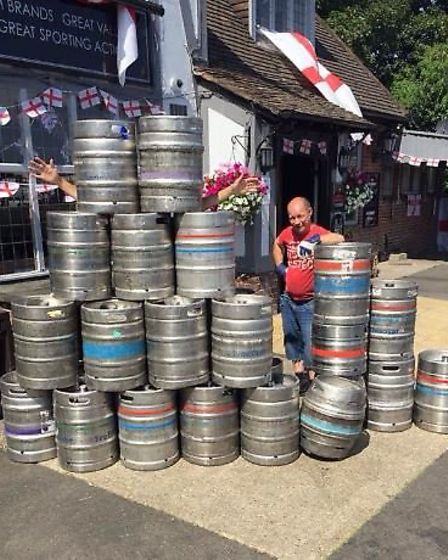 The empties from the The Boundary Pub, Norwich, following the England v Sweden match. Picture: The B