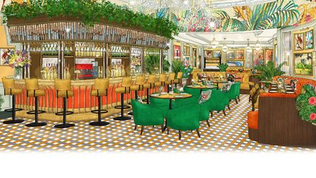 A visual of what the inside of the brasserie is planned to look like. PHOTO: The Ivy Collection