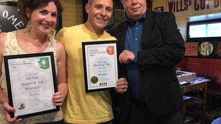 CAMRA winners of Norwich and Norfolk pub of the year 2018. Picture: CAMRA