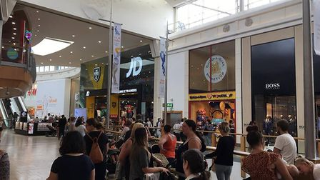 The brand had to cut the line at midday after a dangerous level of customers wanted to cash in on th