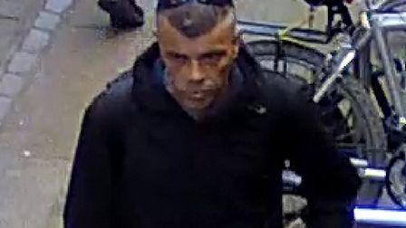 Police are appealing for help to identify a man after a bicycle was stolen in Norwich last year. Pic