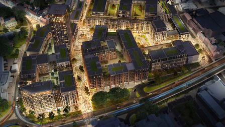 How Anglia Square could look once the redevelopment is complete. Photo: Weston Homes