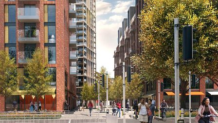 Artist's impression of Anglia Square plans. Picture: Weston Homes and Columbia Threadneedle.