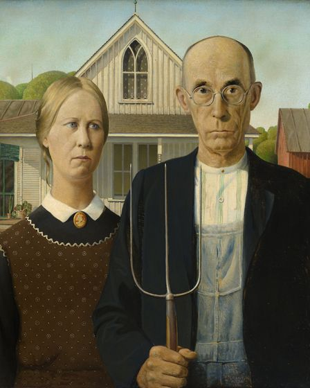 Grant Wood, American, 1891-1942, American Gothic, 1930. The Art Institute of Chicago
