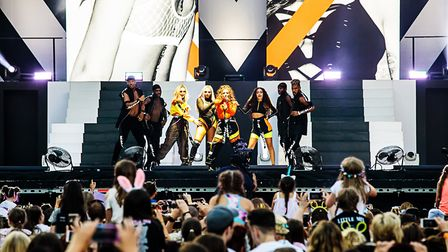 Little Mix performing on their Summer Hits Tour. Picture Graham Joy Photography.