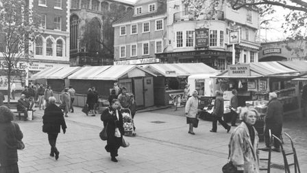 Gentleman's Walk and the Market Dated -- 19 November 1990. Photo: Archant Library