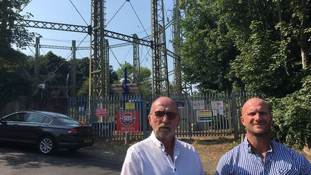 John and Danny Brunton, of Brunton Building Ltd, who attempted to save Norwich's gas holders as part