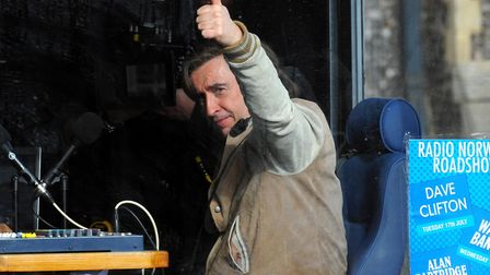 Alan Partridge star Steve Coogan filming in Norwich. Picture: SONYA DUNCAN