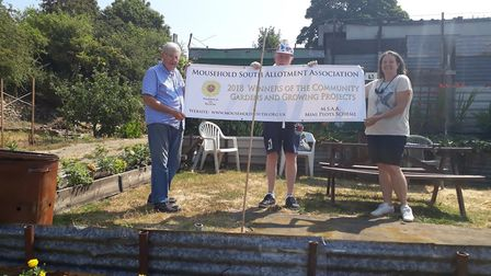 Mousehold South Allotment Association have won the Community Gardens and Growing Projects award at t