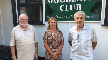 From left, John Sparks, trustee, Denise Howard, bar manager, and chairman John Fitchew outside the W