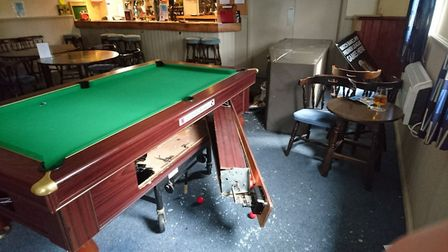 Damage from the burglary at Woodland Social Club. Picture: John Fitchew
