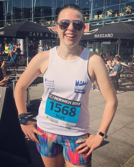 Suze Sharman after Run Norwich in 2017. Picture: Suze Sharman