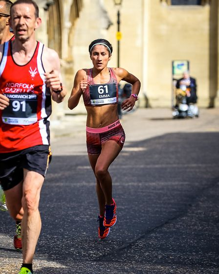 Emma Risbey in action at Run Norwich. Picture: Epic Action Imagery