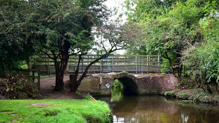 The Red Bridge which crosses the River Tud at Costessey. Picture: ANTONY KELLY