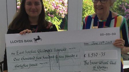 The Inner Club of Watton members with their cheque donation for EACH. Picture: The Inner Club of Wat