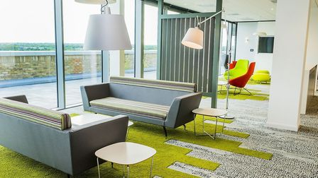 A collaborative work space in Grant Thornton's Milton Keynes office. The company's new Norwich offic