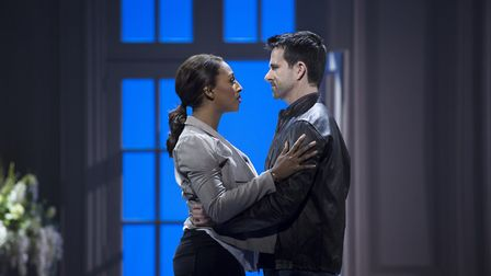 Alexandra Burke as Rachel Marron in The Bodyguard during its previous run at Norwich Theatre Royal.