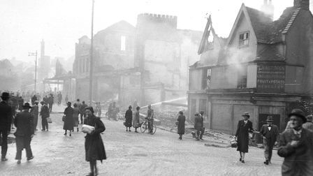 Bonds after the blitz, taken from Ber Street, 28 June 1942. Picture: Archant Library