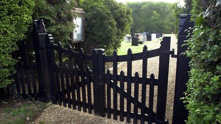 The cemetery in Rectory Lane, Poringland, which has been closed to new burials under advice from the