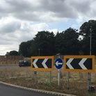 File photo of a NDR roundabout at Wroxham Road. Picture: David Hannant