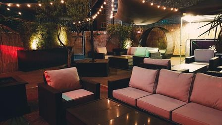 The new look garden at Mantra Norwich