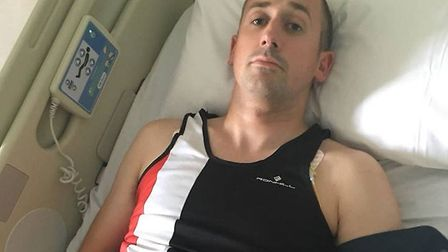 Dave Thomas, a member of Norwich Road Runners, who suffered a minor stroke during Catton parkrun in