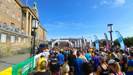 The start of Run Norwich 2018. Picture: Castle Mall