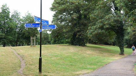 File photo of Anderson's Meadow in Norwich where a man naked man emerged from the bushes. Picture: D