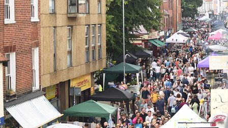 The Norwich Lanes summer fayre. Picture: Ian Burt