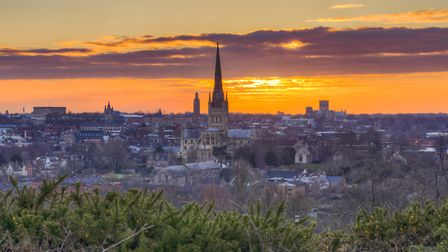 A beautiful sunset as seen from Mousehold heath, Norwich. Picture: Saurabh Prabhu