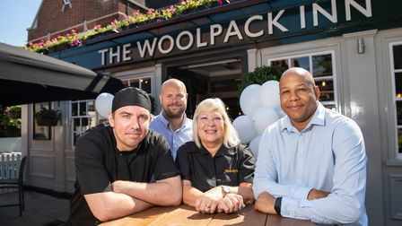 Bradley Rose (chef), Ian Judge (manager), Mo Redshaw (team member), and Kev Black (assistant manager
