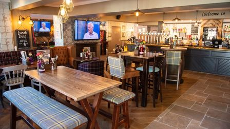 The six-figure investment covered a new look for the pub. Picture: Greene King