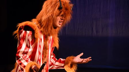 The Beast, played by Edward Longmuir, during the Beauty and the Beast summer production dress rehear
