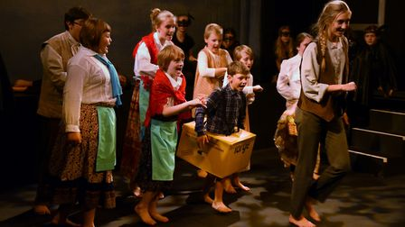 The townsfolk set off after the Beast during the Beauty and the Beast summer production dress rehear