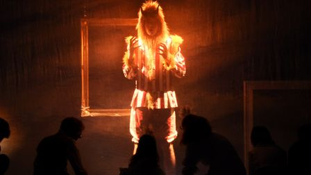 The prince becomes the Beast, played by Edward Longmuir, during the Beauty and the Beast summer prod
