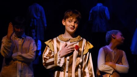 The Prince, played by Jackson Skinner, during the Beauty and the Beast summer production dress rehea