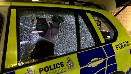 A spanner was thrown at a police car as it was attendting an incident in Swaffham. Picture: @InspSel