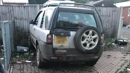 The vehicle police believe has been involved in crime around the west Norfolka area. Picture: @NSRoa