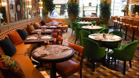 Inside The Ivy Brasserie in the building formerly housing the Gap store in London Street. Picture: D
