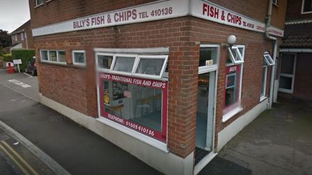 Billy's Chip Shop on School Lane in Sprowston. Picture: Google