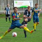 Joe Jackson fires for goal during Swaffhams 8-0 victory on Saturday Picture: EDDIE DEANE