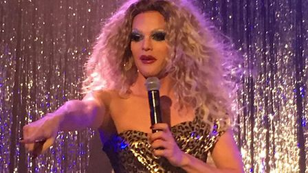 Drag performer Willam Belli while on tour with The AAA Girls in October, 2017. Picture: Itsbydesign/