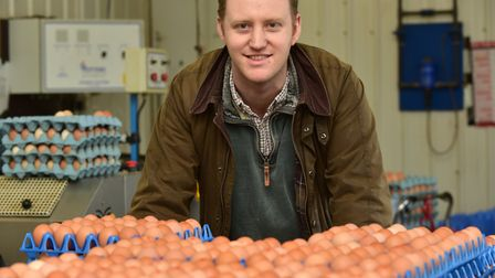 Peter Ewin of Wayland Free Range Eggs in Great Ellingham. Picture: Sonya Duncan