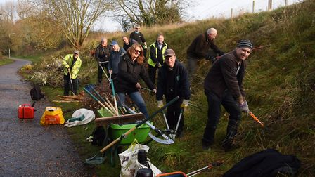 Volunteers from the Lakenham and Town Close Green Spaces Group, The Conservation Volunteers, and Cit