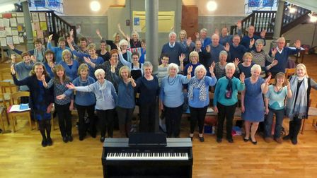 Bury St Edmunds Choir at their charity concert in April. Picture: Graeme Hopson