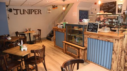 Inside Juniper Coffee Shop, an environmentally friendly, gluten free and vegan newly opened in St St