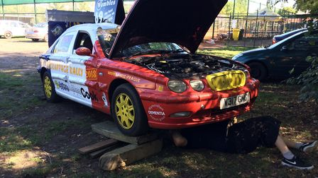 Ady Mothersole and Josh Green, from Wymondham, are on the Scrappage Rally 2018 to raise money for Wy