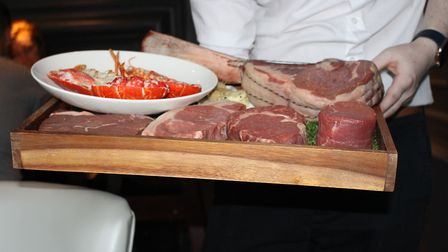 Cuts of beef and lobster at the former Bourgee restaurant in Bury St Edmunds. Picture Georgia Watson