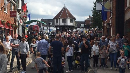 Crowds out in force at Wymondham Vintage Day. Picture: Simon Parkin