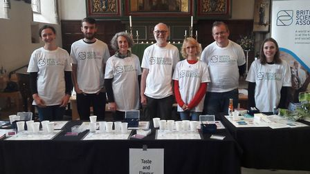 Volunteers from the Norwich branch of the British Science Association carried out interactive experi